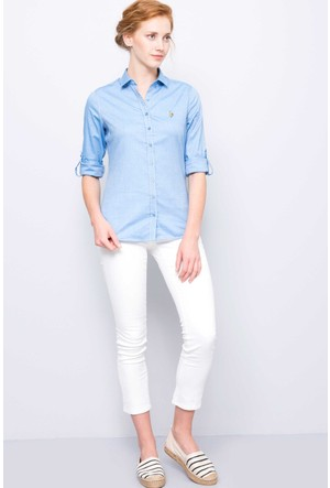 U.S. Polo Assn. Tina7Y Kadın Spor Pantolon Beyaz