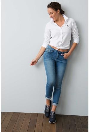 U.S. Polo Assn. Kadın Wox17K Gömlek Beyaz