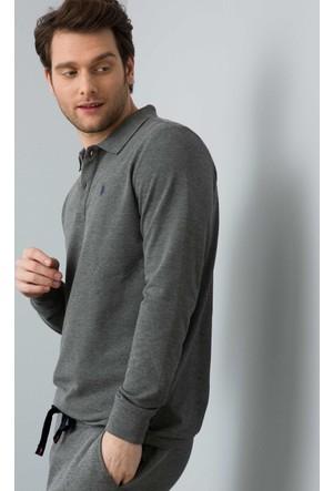 U.S. Polo Assn. Erkek Gtp01Sk7 Sweatshirt Gri Melanj