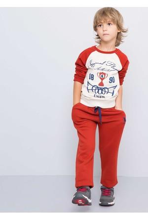 U.S. Polo Assn. Erkek Çocuk Huber Sweatshirt Bej
