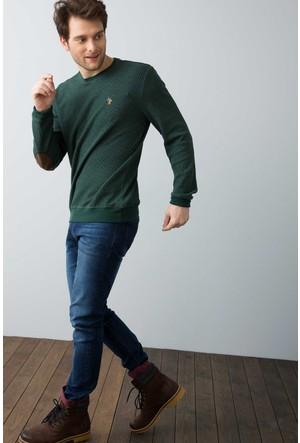 U.S. Polo Assn. Erkek Tilburgsk7 Sweatshirt Yeşil
