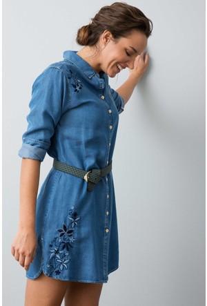 U.S. Polo Assn. Kadın Dauta Elbise Mavi