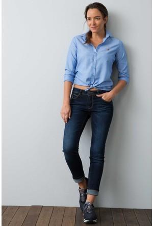 U.S. Polo Assn. Kadın Woxcolor17K Gömlek Mavi