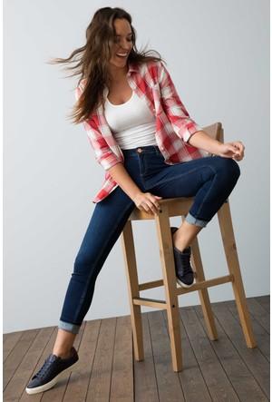 U.S. Polo Assn. Kadın Safy Kot Pantolon Lacivert