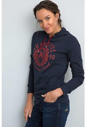 U.S. Polo Assn. Kadın Grey Sweatshirt Lacivert