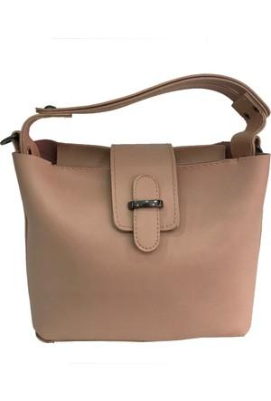 Çanta Stilim Pudra Renk Suni Deri 2394-P El Ve Çapraz Bayan Çantası