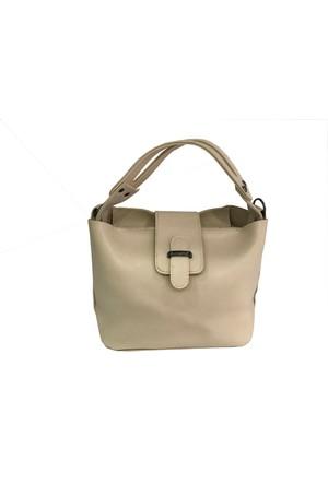Çanta Stilim Krem Renk Suni Deri 2394-K El Ve Çapraz Bayan Çantası