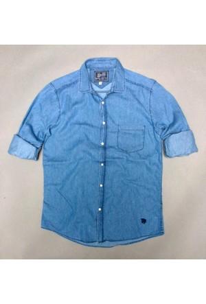 Phazz Brand Erkek İnce Kot Gömlek Phz 6900
