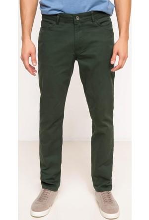DeFacto Erkek Gabardin 5 Cep Pantolon Yeşil