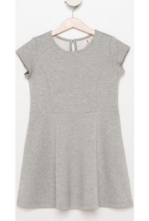 DeFacto Kız Çocuk Sıfır Kol Elbise Gri