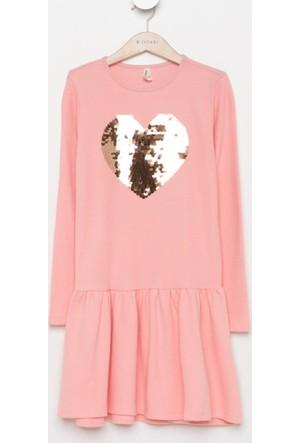 DeFacto Kız Çocuk Baskılı Elbise Pembe