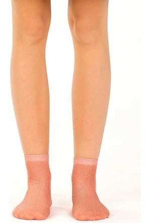 Socks Academy Pembe Simli Kadın Çorap