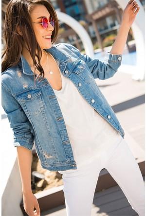 Zdn Jeans Kadın Denim Ceket M11