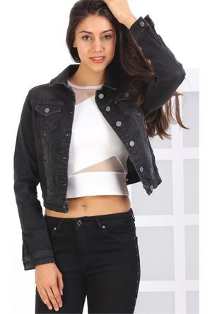 Zdn Jeans Kadın Denim Siyah Ceket M10