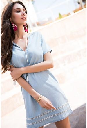 Zdn Jeans Kadın Denim Elbise We1004