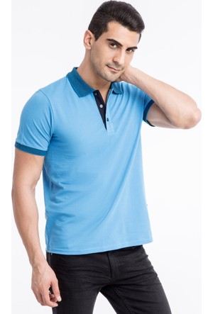 Kiğılı Polo Yaka Düz Regular Fit T-Shirt