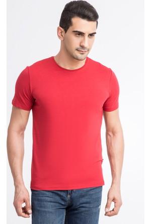 Kiğılı Bisiklet Yaka Düz T-Shirt