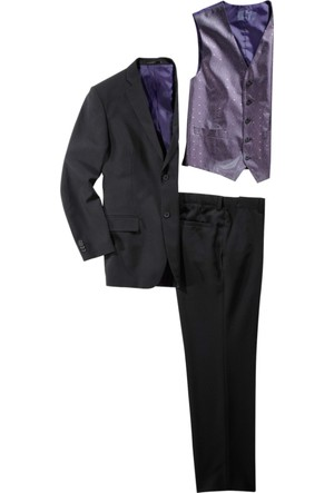Bonprix Bpc Selection Siyah Takım Elbise (5 Parça) Slim Fit Nbeden