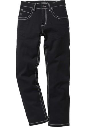 Bpc Selection Siyah 5 Cepli Streç Pantolon Regular Fit Straight K+İ-Beden