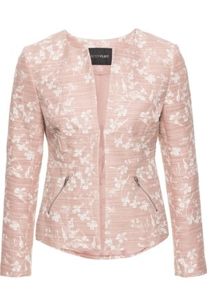 Bodyflirt Kadın Pembe Bukle Blazer Ceket