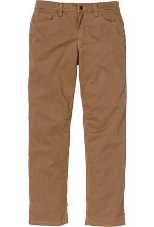 Bonprix Erkek Kahverengi Termal Streç Twill Pantolon Regular Fit