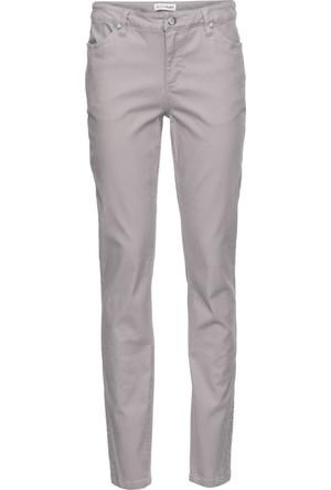 Bonprix Kadın Gri Staz Taş Detaylı Skinny Streç Pantolon