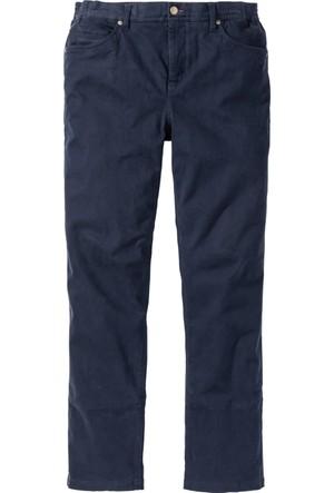 Bonprix Erkek Mavi Beli Esnek Pantolon Regular Fit