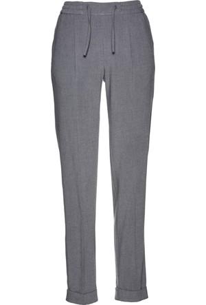 Bonprix Kadın Gri Beli Lastikli Kumaş Pantolon