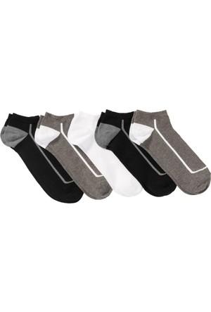 Bonprix Kadın Siyah Spor Çorabı (5'li Pakette)