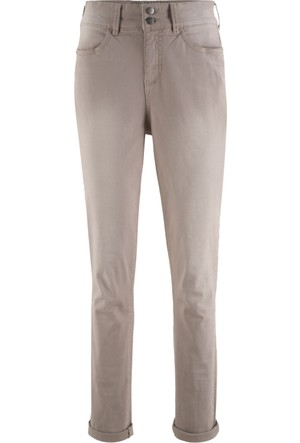 Bonprix Kadın Gri Yüksek Bel Streç Pantolon
