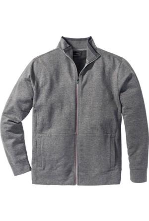 Bonprix Erkek Gri Sweatshirt Regular Fit
