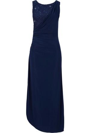 Bonprix Kadın Mavi Koyu Mavi Maxi Elbise