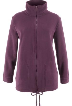 Bonprix Kadın Lila Dik Yaka Polar Sweatshirt