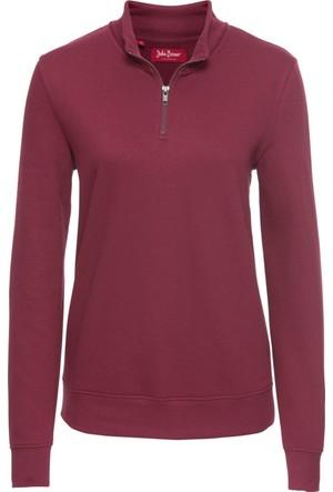 Bonprix Kadın Lila Fermuarlı Sweatshirt