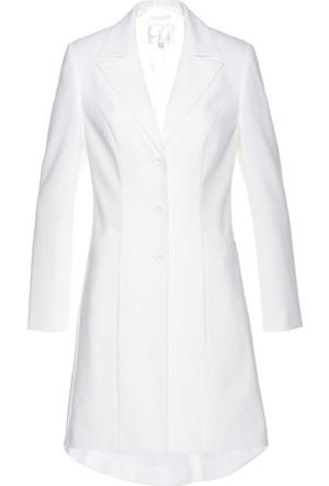 Bonprix Kadın Beyaz Uzun Blazer Ceket