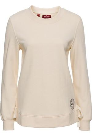 Bonprix Kadın Bej Bağcıklı Sweatshirt