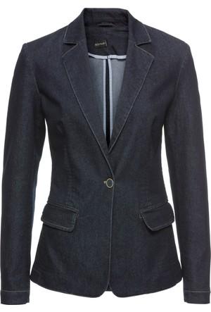 Bonprix Kadın Mavi Jean Blazer Ceket