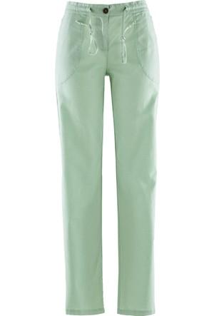 Bonprix Kadın Yeşil Keten Pantolon