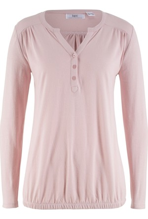 Bonprix Kadın Lila Uzun Kollu Bluz