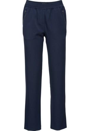 Bonprix Kadın Mavi Kumaş Pantolon