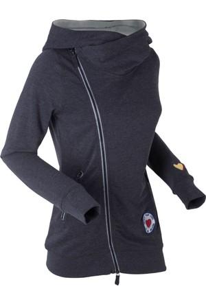 Bonprix Kadın Siyah Sweatshirt