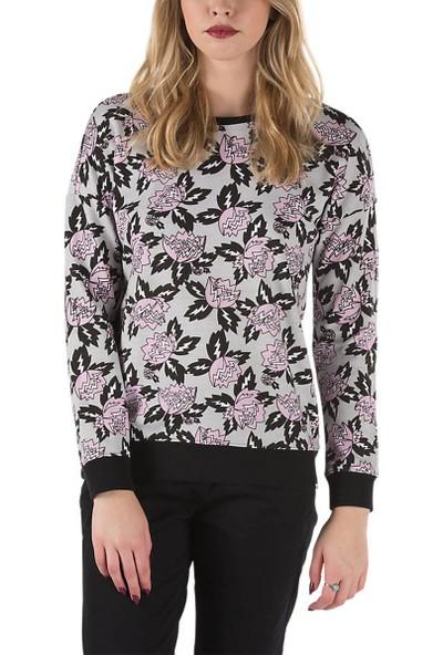 Vans V241Hcj Açık Gri Siyah Lila Kadın Sweatshirt