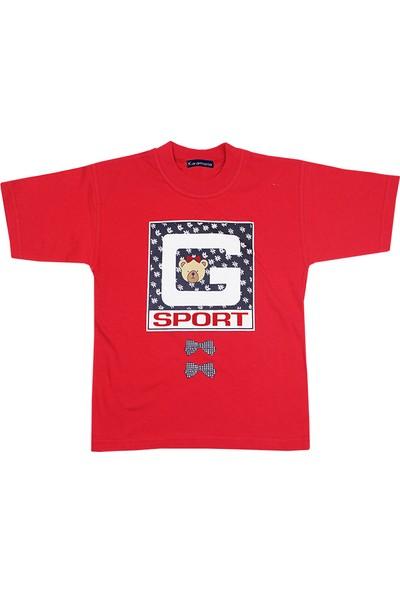 Tandem Kız Çocuk Baskılı T-shirt Kırmızı
