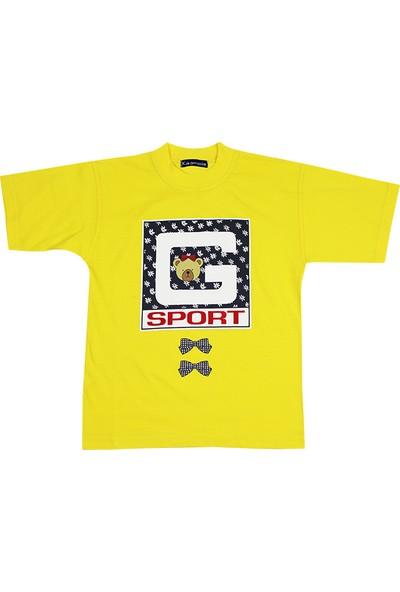 Tandem Kız Çocuk Baskılı T-shirt Sarı