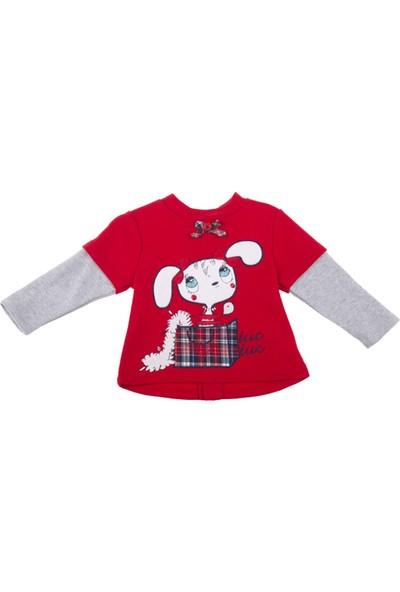 Tuc Tuc Kız Çocuk Sweatshirt British Kırmızı - Gri Melanj