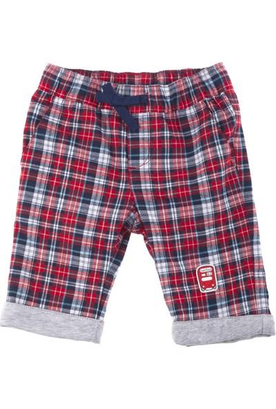 Tuc Tuc Erkek Çocuk Ekose Pantolon British Kırmızı - Lacivert Ekose