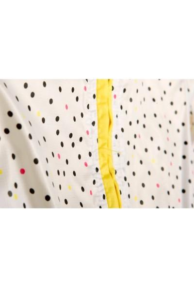 Tuc Tuc Çift Taraflı Giyilebilir Mont Crazy Lemons Sarı - Beyaz Puanlı