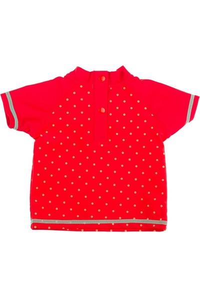 Tuc Tuc Çocuk Lycra T-shirt Mayo Bugs Kırmızı Puanlı