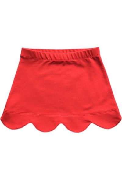 Karamela Kız Çocuk Etek Dilimli Kırmızı