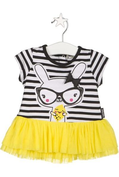 Tuc Tuc Tavşanlı Elbise Crazy Lemons Sarı - Siyah Çizgili